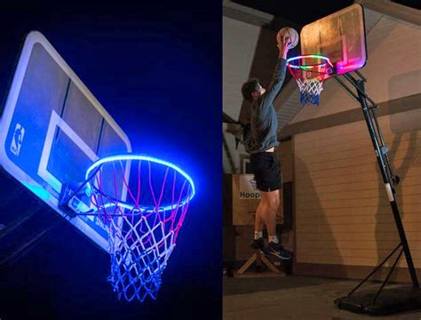 hoop light led lit basketball rim attachment helps