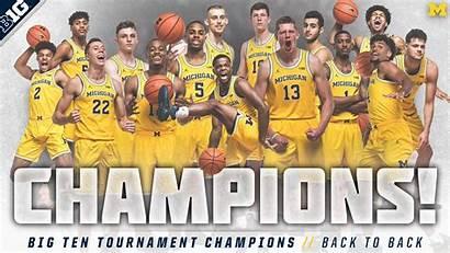 Michigan Basketball Ten Wolverines University Champs Team