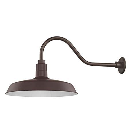 brass skullcap gooseneck wall light felix lighting