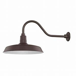 barn light outdoor wall light bronze with gooseneck arm 18 With barnlights
