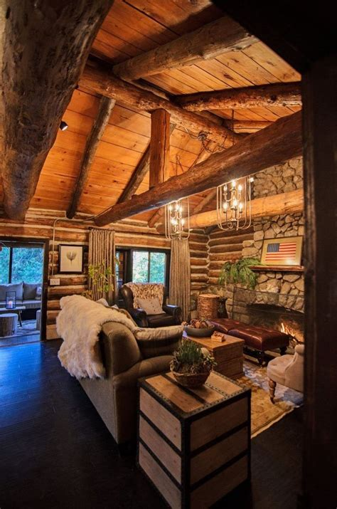 37 attractive log cabin interior design ideas for tiny