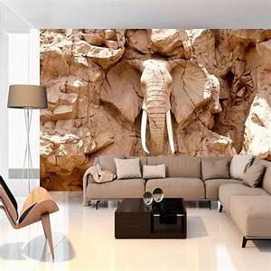 Wall Art Tapeten : vlies fototapete 3 farben zur auswahl tapeten elefant stein g b 0007 a b ebay ~ Markanthonyermac.com Haus und Dekorationen