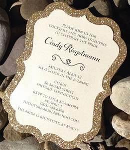 bridal shower invitation glitter bridal shower With wedding invitations glitter border