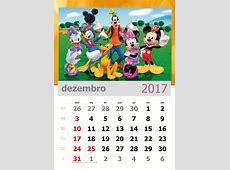 Calendário 2017 Turma do Mickey Mensal