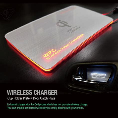 led l wireless charger kmp trade led wireless charger cup holder door catch
