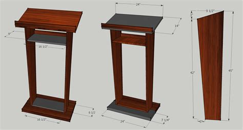 plans  building  wooden pulpit  woodworking