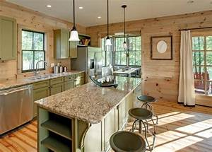 knotty pine walls family room traditional with board and With kitchen colors with white cabinets with iron wall art outdoor