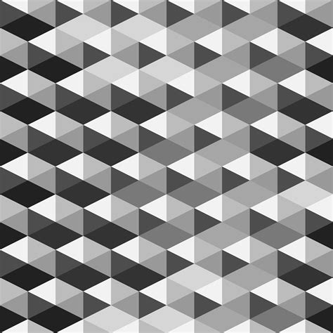 Abstract Geometric Shapes Pattern by Abstract Monochrome Geometric Pattern Digital By