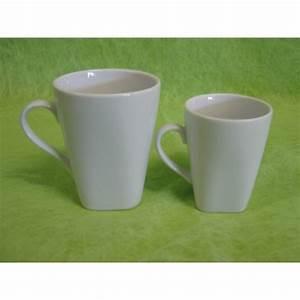 Tasse à Thé : tasse a cafe capuccino carr e 15cl en porcelaine blanche centre vaisselle sarl la porcelaine ~ Teatrodelosmanantiales.com Idées de Décoration