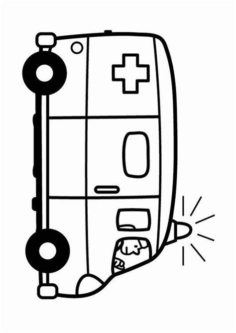 Kleurplaat Ziekenauto by Kleurplaat Ziekenwagen Afb 24102
