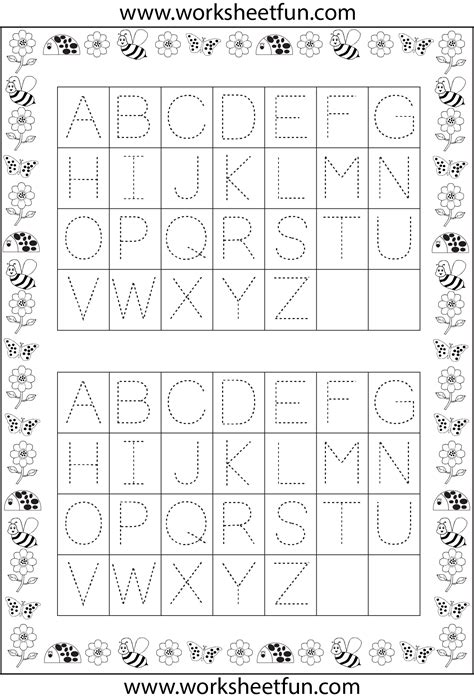 free printable alphabet tracing worksheets a z free
