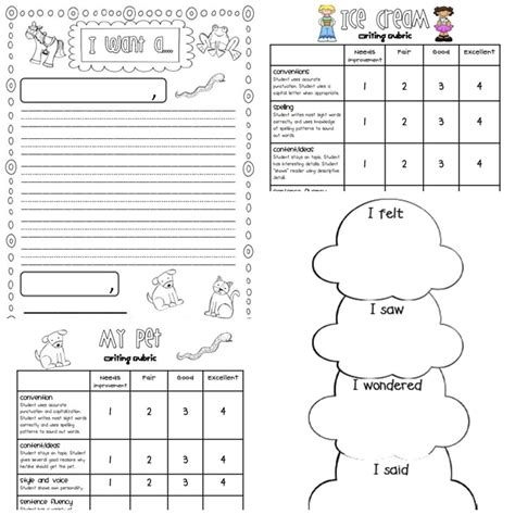 writing rubrics  primary grades teach junkie