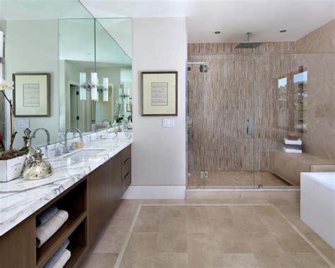 contemporary master bathroom  glass enclosed shower hgtv