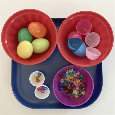shelf of eggs easter shelf activities ms s preschool