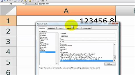 How To Format And Display Large Numbers In Excel Youtube