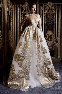 gold wedding dress with sleeves naf dresses With wedding dresses gold