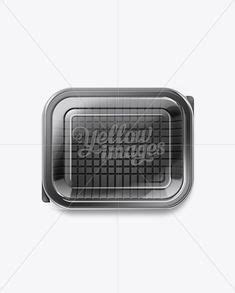 Free mockups and design tools. Download Black Plastic Vacuum food tray PSD in 2020 | Food ...