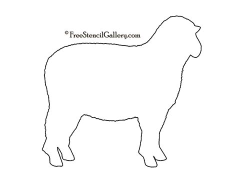 sheep silhouette  stencil  stencil gallery