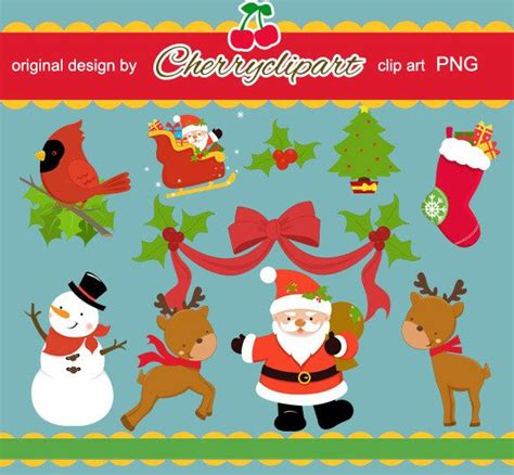 merry christmas element digital clipart personal