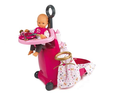 chaise haute smoby bn nursery suitcase 3in1 baby doll accessories