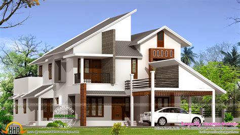 New Modern House Plan  Kerala Home Design And Floor Plans