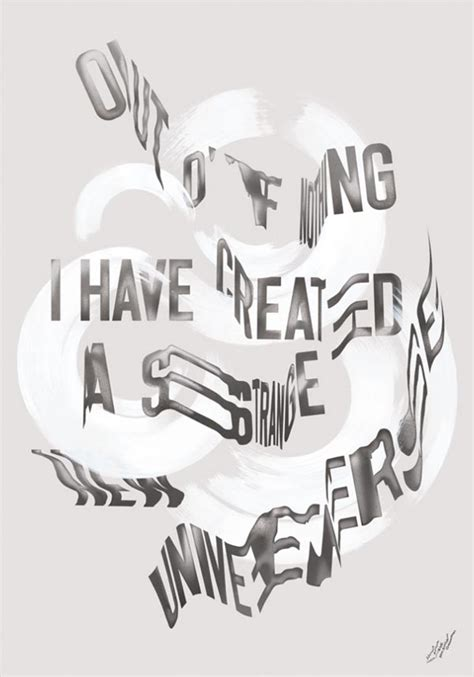 experimental typography poster design by sawdust