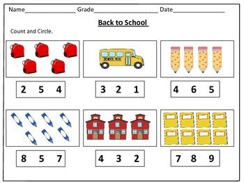 back to school counting worksheets 1 20 by kids learning basket