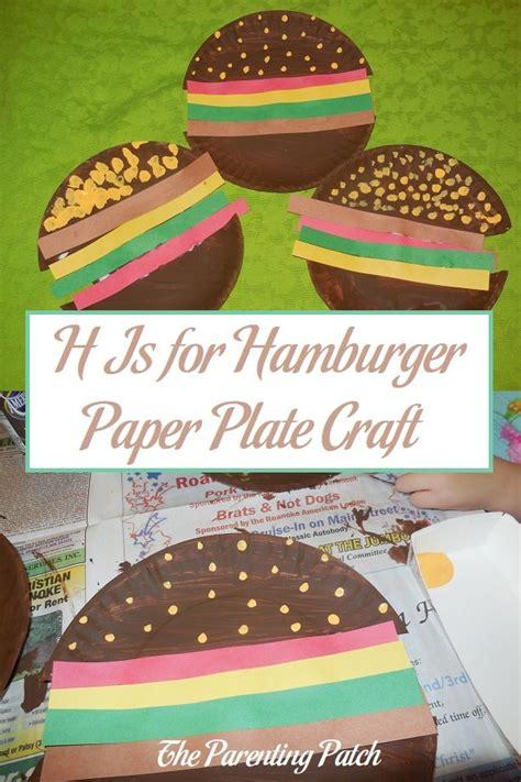hamburger paper plate craft parenting patch