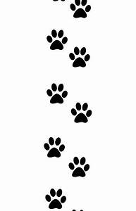 Paw Print Trail Clipart - Clipart Suggest