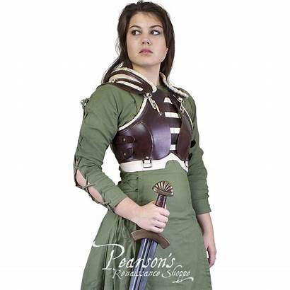 Rogue Female Armour Leather Medieval Larp Clothing