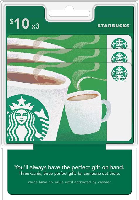 Maybe you would like to learn more about one of these? Starbucks $10 Gift Cards (3-Pack) Starbucks $30 | Coffee gifts card, Starbucks gift card ...