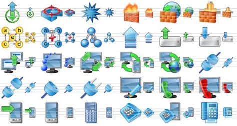 perfect network icon pack collection  network related