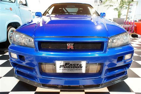 blue nissan skyline fast and furious fast and furious blue nissan skyline r34 gt r no car no