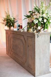 Reception Décor Photos - Rustic Wedding Bar in Tent