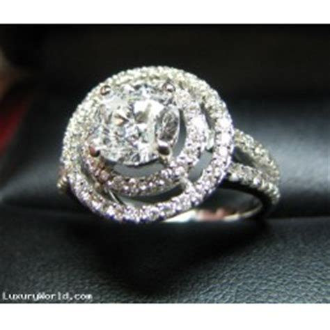 $20,000 194ct Diamond Double Halo Wedding Ring 14kwg
