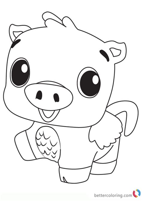 pigpiper  hatchimals coloring pages  printable
