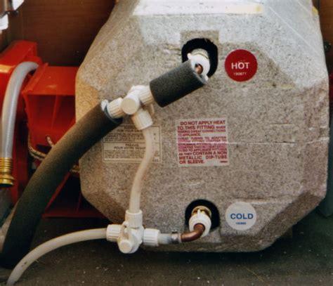 rv hot water heater bypass valve  drain valve