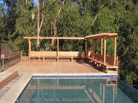 redwood deck bench plans  woodworking