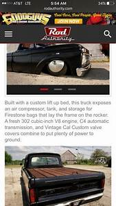 64 Ford F100 Bagged Air Ride Patina Shop Truck Not A Rat