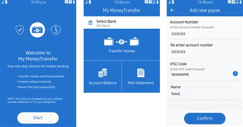 my money transfer app brings mobile banking services on