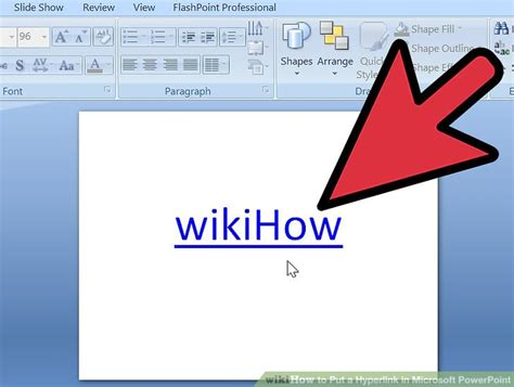 powerpoint hyperlink color how to put a hyperlink in microsoft powerpoint 7 steps
