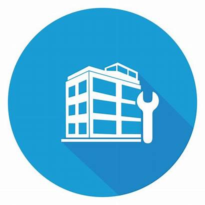 Management Facility Services Maintenance Property Building Icons