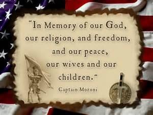 Captain Moroni Title of Liberty Flag