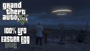 GTA V (GTA 5) - 100% Alien UFO Easter Eggs (Mt Chiliad ...