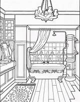 Coloring Victorian Pages Bathroom Adult Colouring Drawing Furniture Houses Printable Sheets Books Mary Rose Modern Interior Taylor Line Colors Homes sketch template