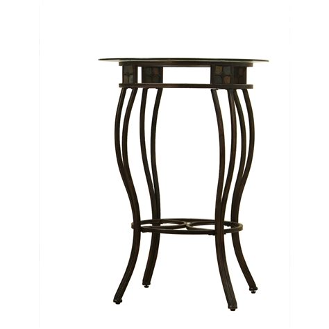 small round bar table industrial pub table design homesfeed