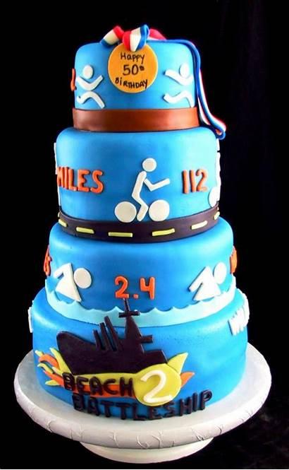 Birthday Cake Cakes 50th Triathlon Ironman Funny