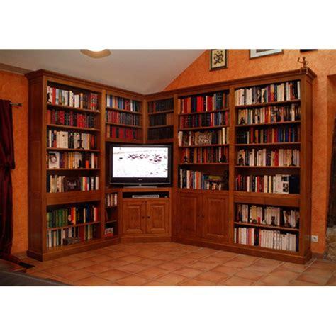 bureau merisier massif bibliothèque d 39 angle meubles de normandie