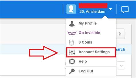 Deactivate Zoosk Account On App