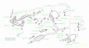 2009 Subaru Legacy Exhaust Muffler  Left   Identification